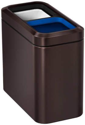 Simplehuman Slim Open Recycler Bin - Dark Bronze 20L