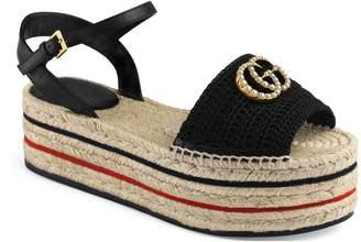 Gucci Lilibeth Platform Espadrille Sandal