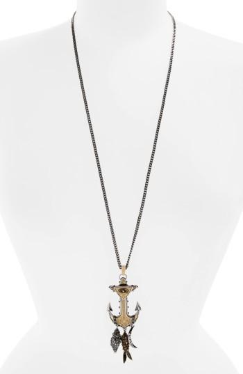 Alexander McQueenWomen's Alexander Mcqueen Anchor Pendant Necklace
