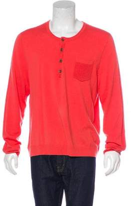 Rag & Bone Wool-Blend Henley Sweater