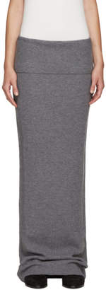 Stella McCartney Grey Wool Skirt