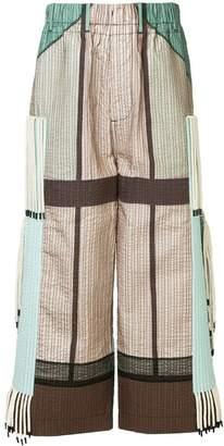 Craig Green wide-leg colour block trousers