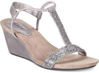 Style&Co. Style & Co Mulan 2 Embellished Evening Wedge Sandals