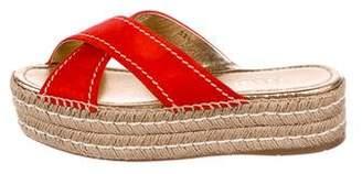 Prada Suede Slide Sandals