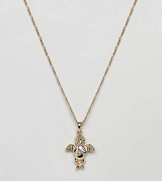 Serge DeNimes Cherub Necklace In 14K Gold Plated Solid Silver