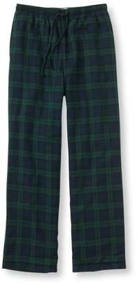 L.L. Bean L.L.Bean Men's Scotch Plaid Flannel Sleep Pants, Fleece-Lined