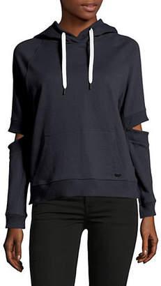 DKNY Long Sleeve Cut-Out Hoodie