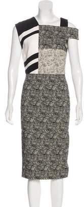 Roland Mouret Patterned Midi Dress