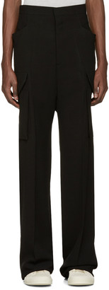 Rick Owens Black Tailored Flat Cargo Trousers $1,325 thestylecure.com