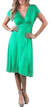 24/7 Comfort Apparel Women's Empire Dress
