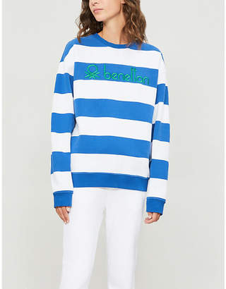 Benetton Unisex striped cotton-jersey sweatshirt
