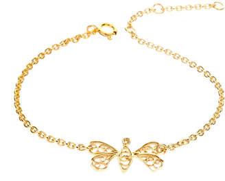 Arabel Lebrusan Gold Butterfly Filigree Friendship Bracelet