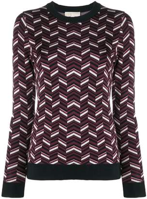 MICHAEL Michael Kors patterned crew neck sweater