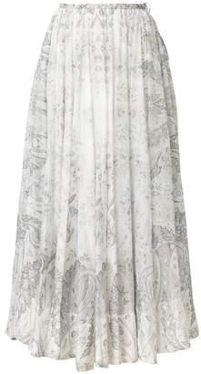 Etro paisley print pleated skirt