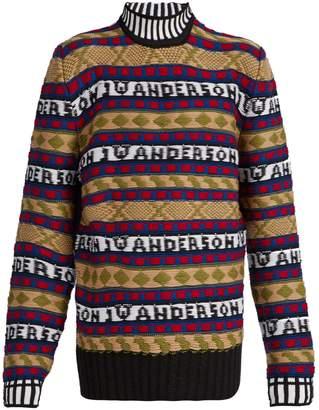 J.W.Anderson Logo-intarsia Fair Isle sweater