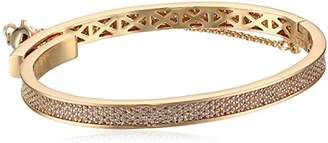 Eddie Borgo Extra Thin Safety Chain Pave Rhodium Plated Brass Bangle Bracelet