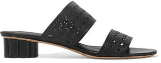 Salvatore Ferragamo Belluno Laser-cut Leather Mules