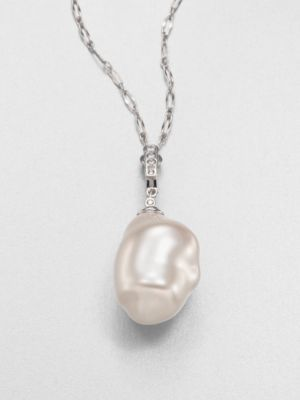 Majorica 22MM Baroque Pearl and Sterling Silver Necklace