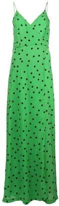 Ganni polka-dot flared maxi dress