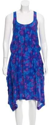 Thakoon Printed Silk Midi Dress