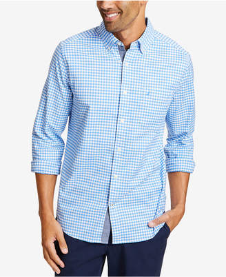 Nautica Men Oxford Plaid Shirt