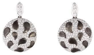18K Pavé Diamond Disc Earrings