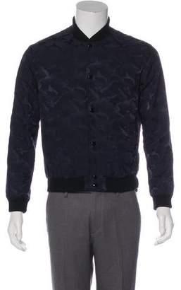 Saint Laurent Wool-Trimmed Camo Bomber Jacket