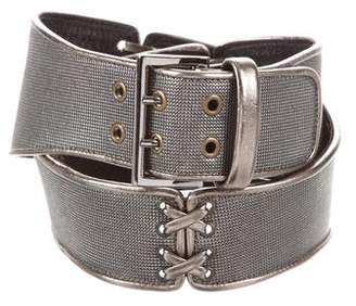 Oscar de la Renta Metallic Waist Belt