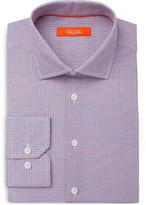 Tallia Men's Slim-Fit Micro Flower Tiles Dress Shirt