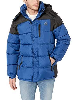 Reebok Men's Sporty Heavy Weight Hooded Bubble Jacket
