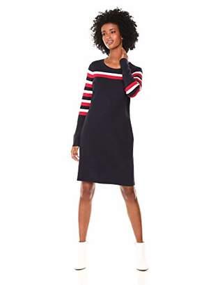 Tommy Hilfiger Women's Placed Stripe Sweater Dress
