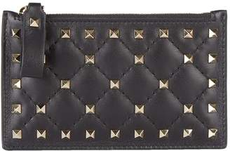 Valentino Rockstud Spike Card Holder and Coin Purse