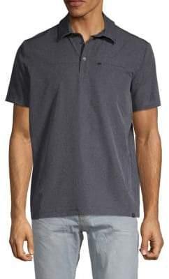 Hawke & Co Heathered Short-Sleeve Polo