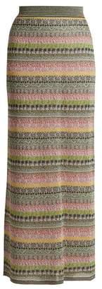Missoni Striped Metallic Maxi Skirt - Womens - Multi