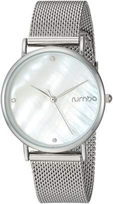 RumbaTime Women's 'Lafayette' Stainless Steel Mesh Bracelet Casual Watch (Model: 27709)