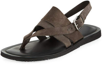 Kenneth Cole Men's Reel-Ist Suede Thong Sandals