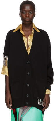 Christopher Kane Black Crystal Cupchain Cardigan
