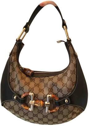 0f5d581dd9a66f Gucci Bamboo Beige Cloth Handbag