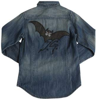 John Galliano Bat Washed Cotton Chambray Shirt