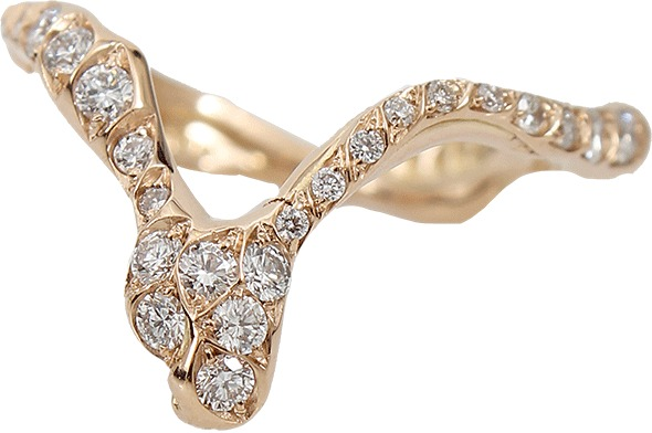Lucifer Vir Honestus Pennacchio Ring with Diamonds