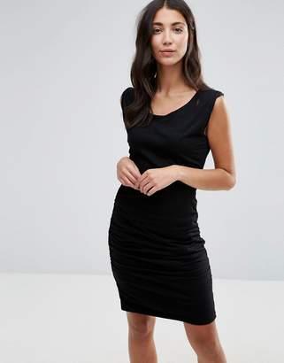 Pam & Gela Twisted Slit Bodycon Dress