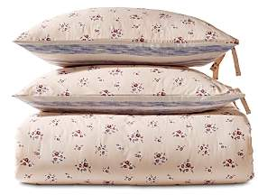 Sparrow & Wren Floral Stripe Reversible Duvet Set, Full/Queen - 100% Exclusive