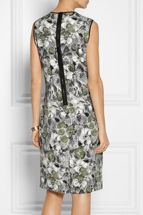 Bottega Veneta Embellished stretch-silk dress