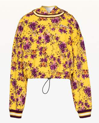 Juicy Couture JXJC Etched Floral Cinched Hooded Pullover