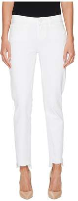 Paige Skyline Ankle Peg Uneven Hem in Crisp White Women's Jeans