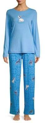 Hue Two-Piece Snuggy Dog Pajama Set