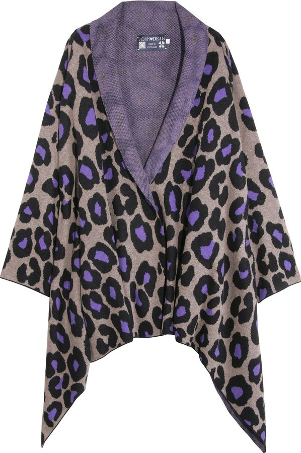 Dear Cashmere Cashmere Knitted Leo Print Topper