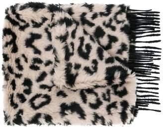 Max Mara leopard print scarf