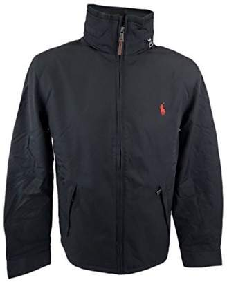 Polo Ralph Lauren Men's Perry Lined Hooded Jacket Coat-Black-XL