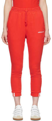 adidas Orange Cropped Coeeze Lounge Pants